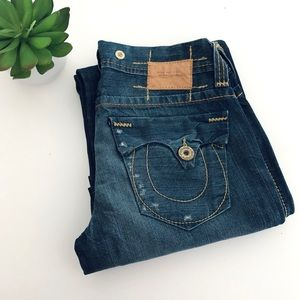 True Religion Suspender Jeans